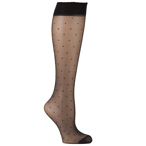 Buy Pretty Polly Floral & Spot Knee High Socks, 2 Pack Online at johnlewis.com