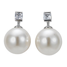 Buy John Lewis Large Pearl Diamanté Stud Earrings Online at johnlewis.com