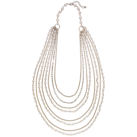 Buy John Lewis Pearl and Chain Multi Strand Necklace Online at johnlewis.com