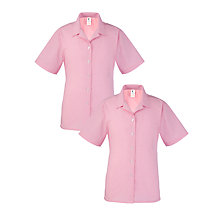 Buy Mayville High School Girls' Summer Blouse, Pack of 2, Pink/White Online at johnlewis.com