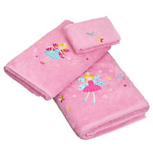 Buy little home at John Lewis Fairy Pink Towels, Pink Online at johnlewis.com