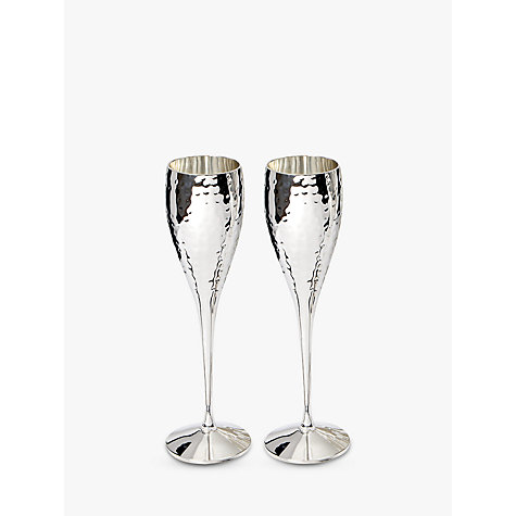 Buy Culinary Concepts Hammered Champagne Flutes, Set of 2 Online at johnlewis.com