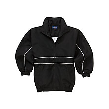Buy School Unisex Tracksuit Top, Black/White Online at johnlewis.com