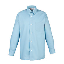 Buy Thomas's Boys' Years 3-8 Long Sleeve Shirt, Blue Online at johnlewis.com