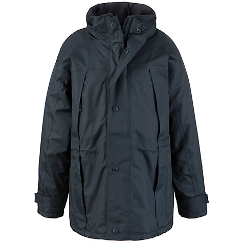 Buy School Children's Winter Coat, Navy Online at johnlewis.com