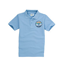 Buy Priory Junior School Unisex Polo Shirt, Light Blue Online at johnlewis.com