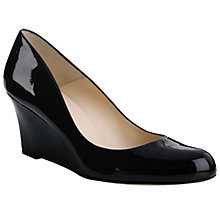 Buy L.K. Bennett Zahara Wedge Shoes, Black Online at johnlewis.com