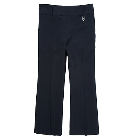 Buy John Lewis Girls' Heart Fob Pull-On School Trousers, Navy Online at johnlewis.com