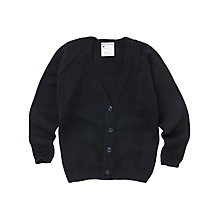 Buy Girls' School V-Neck Cardigan, Dark Navy Online at johnlewis.com