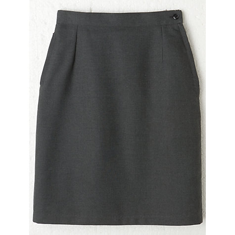 Buy Girls' A-Line School Skirt, Grey Online at johnlewis.com