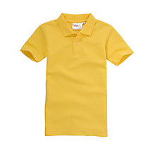 Buy Plain Unisex School Polo Shirt, Gold Online at johnlewis.com