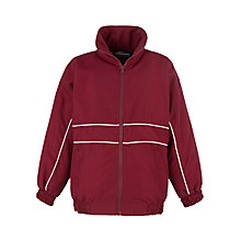Buy School Unisex Tracksuit Top, Maroon/White Online at johnlewis.com