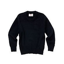 Buy Alleyn's Junior School Unisex Junior Crew Neck Pullover, Navy Online at johnlewis.com