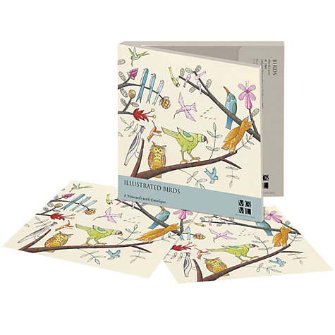 Buy Museums & Galleries Illustrated Birds Notecards, Pack of 8 Online at johnlewis.com