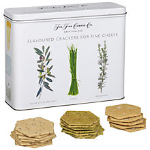 Buy The Fine Cheese Co. Flavoured Crackers in a Tin, 450g Online at johnlewis.com