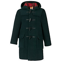 Buy School Unisex Duffle Coat, Green Online at johnlewis.com