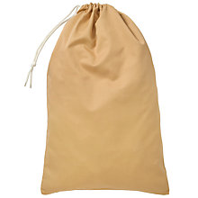 "Buy School Drawstring Linen Bag, Sand, 27 x 17"" Online at johnlewis.com"