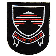 Buy Bungay High School Blazer Badge, Black/Red Online at johnlewis.com