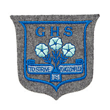Buy Grittleton House School Unisex Blazer Badge, Grey/Blue Online at johnlewis.com