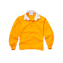 Buy School Rugby Shirt, Amber Online at johnlewis.com