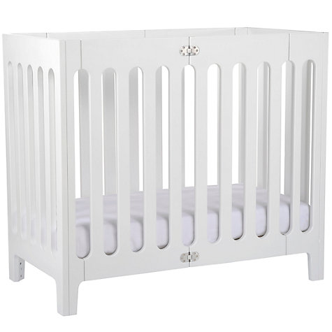 Buy John Lewis Baby Fitted Organic Cotton Cot Sheet, 56-63 x 118-127cm, White Online at johnlewis.com