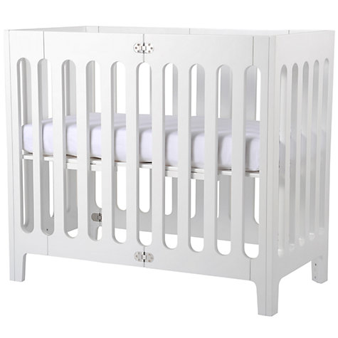 Buy John Lewis Baby Fitted Organic Cotton Cotbed Sheet,  70-140cm, White Online at johnlewis.com