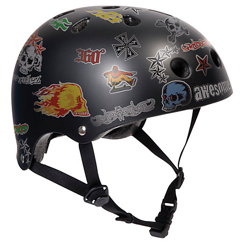 Buy Stateside Skates Stickered Helmet, Black Online at johnlewis.com