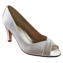 Buy Rainbow Club Alexa Satin Peep Toe Court Shoes Online at johnlewis.com