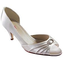 Buy Rainbow Club Amelie Satin Peep Toe Buckle Court Shoes Online at johnlewis.com
