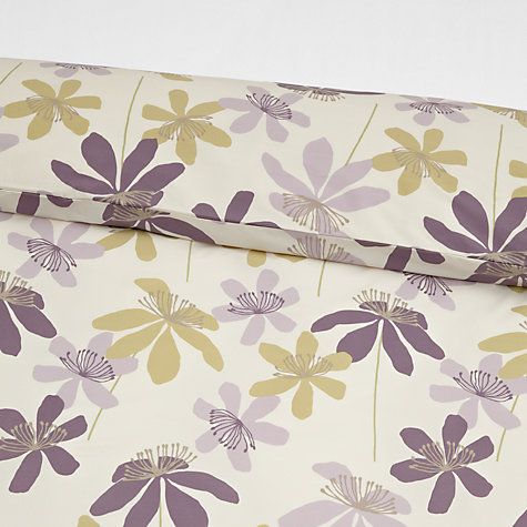 Buy John Lewis Passion Flower Duvet Cover and Pillowcase Set, Cassis Online at johnlewis.com