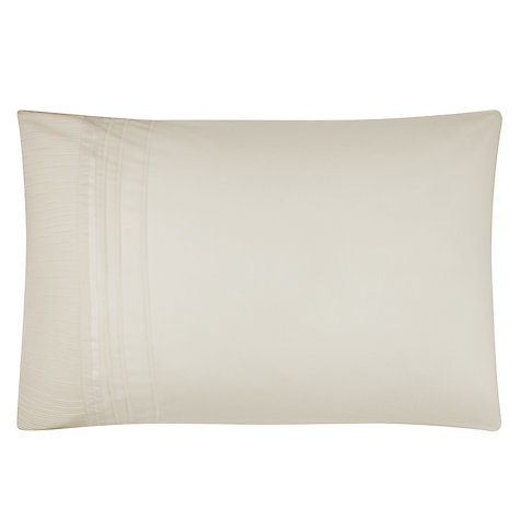 Buy John Lewis Ribbon Pleats Duvet Cover and Pillowcase Set, Cream Online at johnlewis.com
