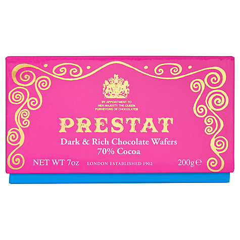 Buy Prestat Dark & Rich Chocolate Wafers, 200g Online at johnlewis.com