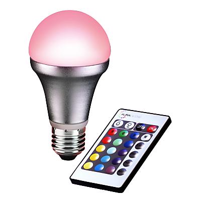 Auraglow 4W ES A55 LED Bulb and Remote Control, Multi