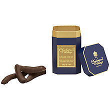 Buy Charbonnel et Walker Ginger Sticks in Chocolate in a Drum, 125g Online at johnlewis.com