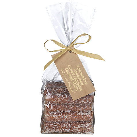 Buy Ambassadors of London Chocolate Coconut Sticks, 195g Online at johnlewis.com