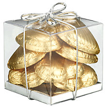 Buy Ambassadors of London Gold Foiled Chocolate Hearts, 50g Online at johnlewis.com