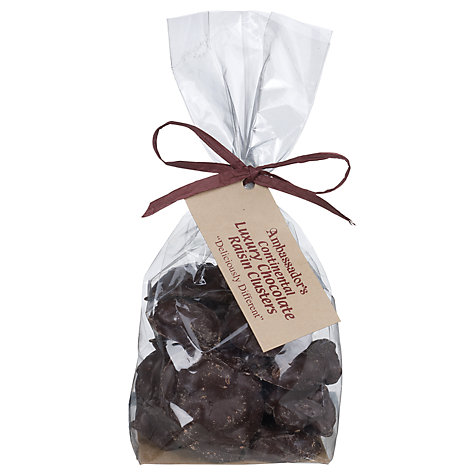 Buy Ambassadors of London Plain Chocolate Raisin Clusters, 200g Online at johnlewis.com