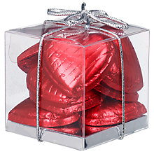 Buy Ambassadors of London Red Foiled Chocolate Hearts, 50g Online at johnlewis.com