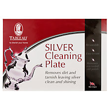 Buy Tableau Silver Cleaning Plate Online at johnlewis.com