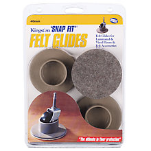Buy Felt Castor Covers for 40mm Single Wheel, Set of 4 Online at johnlewis.com