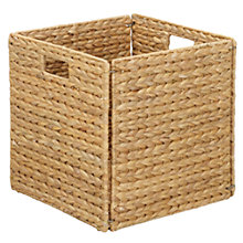 Buy John Lewis Water Hyacinth Folding Basket Online at johnlewis.com