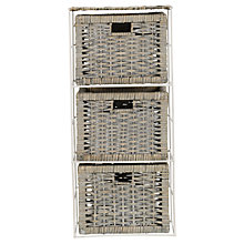 Buy John Lewis Split Willow 3 Drawer Storage Unit, Grey Online at johnlewis.com
