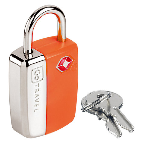 Buy Go Travel Glo Travel Sentry Padlock, Assorted Colours Online at johnlewis.com