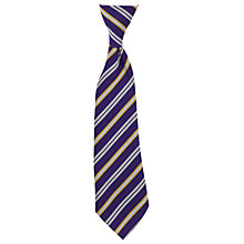 Buy St John Fisher Catholic Primary School Unisex Elasticated Tie, Purple/Silver Online at johnlewis.com