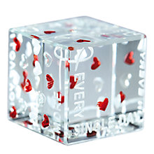 Buy Spaceform Every Single Day Love Cube Online at johnlewis.com