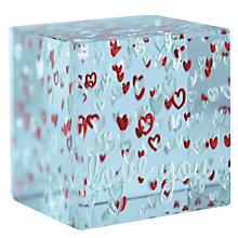 Buy Spaceform Layered Paperweight, Hearts Online at johnlewis.com