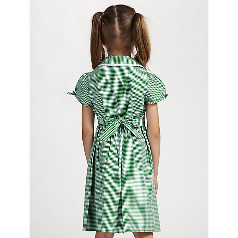 Buy John Lewis Check Print Cotton Summer Dress, Green Online at ...
