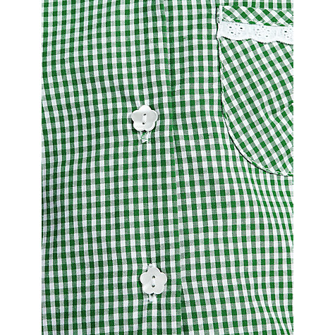 Buy John Lewis Check Print Cotton Summer Dress, Green Online at johnlewis.com