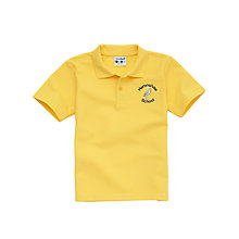 Buy Heronshaw School Unisex Polo Shirt, Gold Online at johnlewis.com