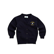 Buy Heronshaw School Girls' Cardigan, Navy Online at johnlewis.com